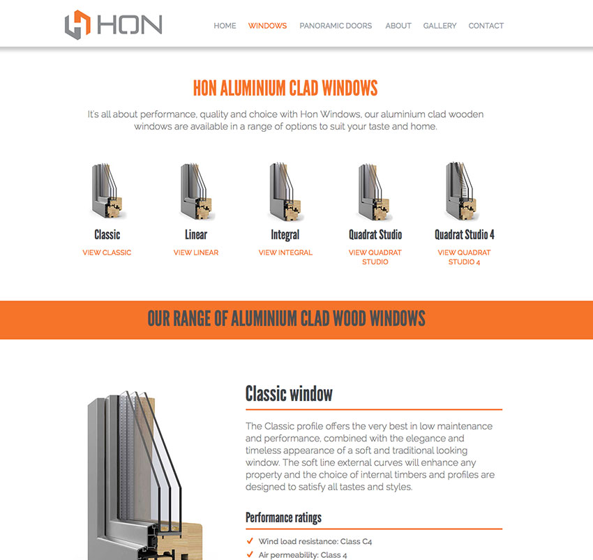ho-windows-website-design