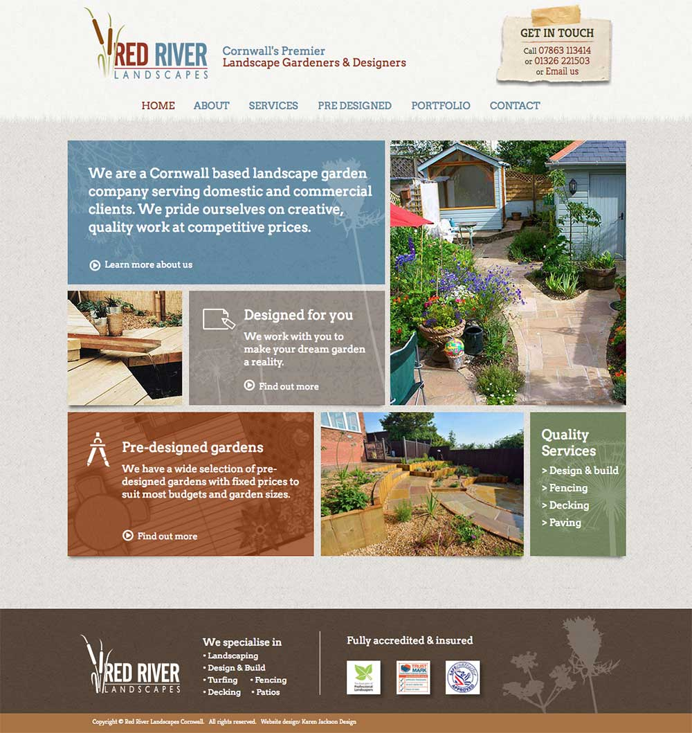 Redriverlandscapes Co Uk Home Redriver Landscapes Website Design